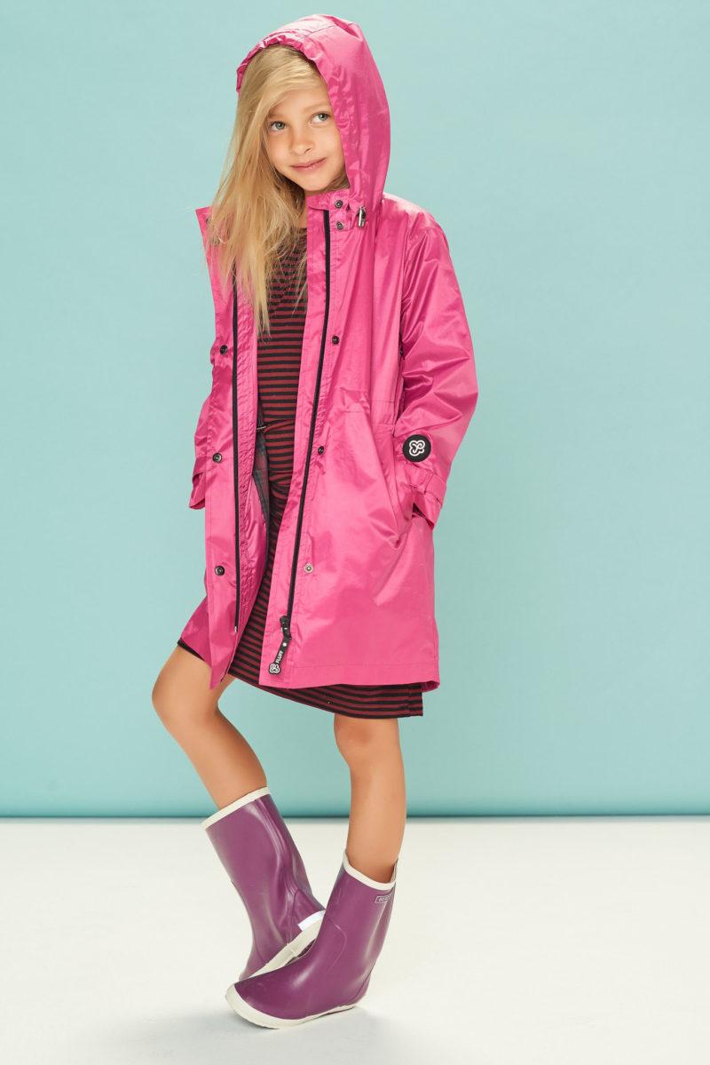Deep Pink kids raincoat
