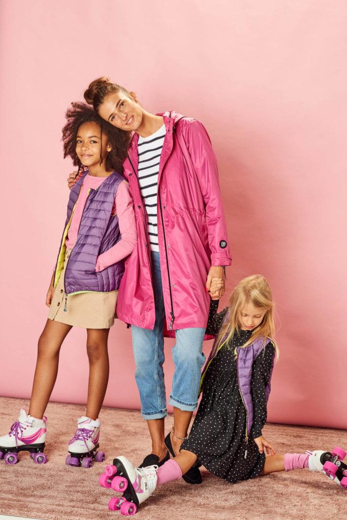 Deep Pink women raincoat