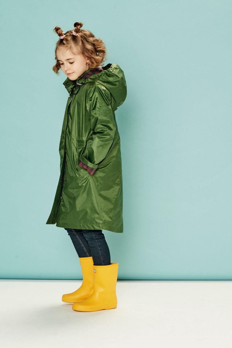 Płaszcz przeciwdeszczowy dziecięcy Green