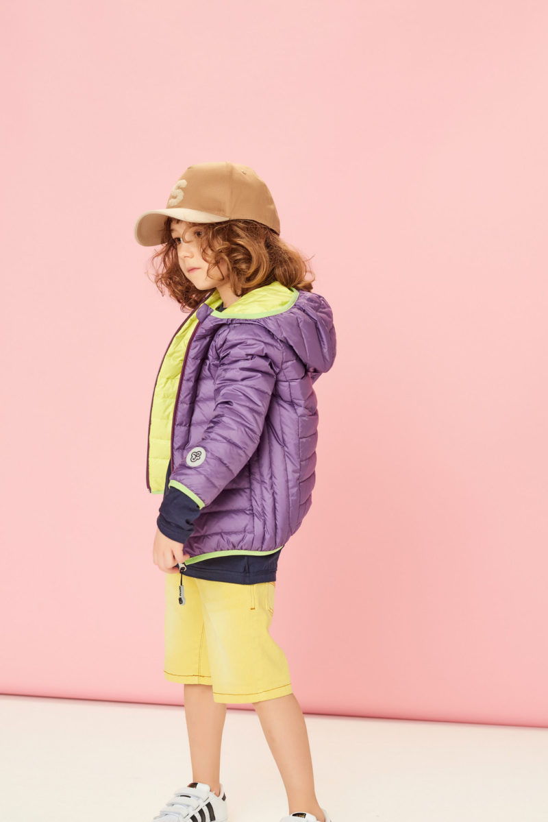 Kurtka dwustronna ultra lekka Lemon&Purple
