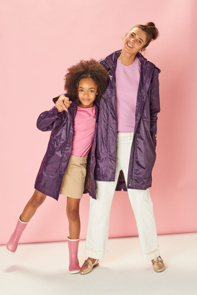 Purple kids raincoat