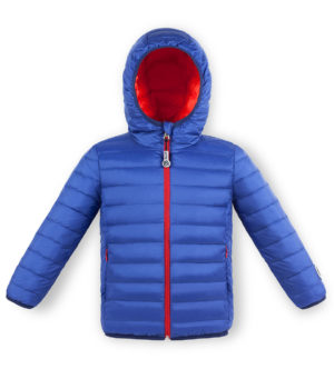 Blue and Coral ultralight down jacket
