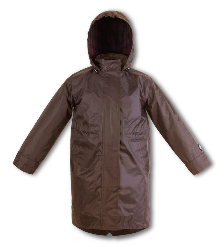 Chocolate Brown kids raincoat