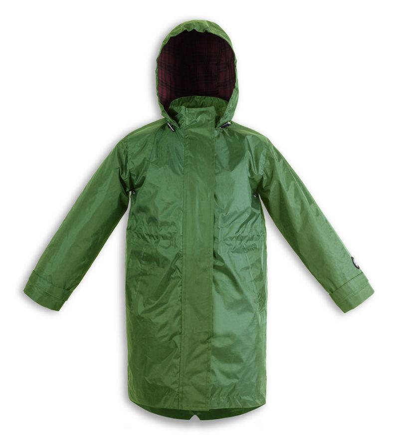 Green kids raincoat