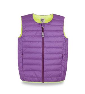 Lemon and Purple ultralight down vest