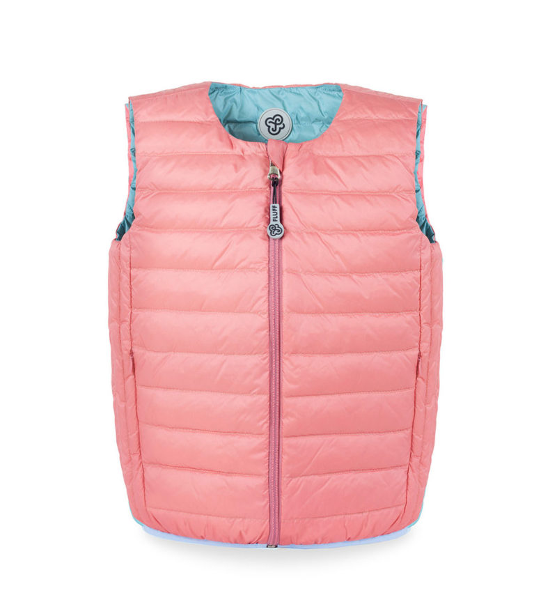 Mint and Nude ultralight down vest
