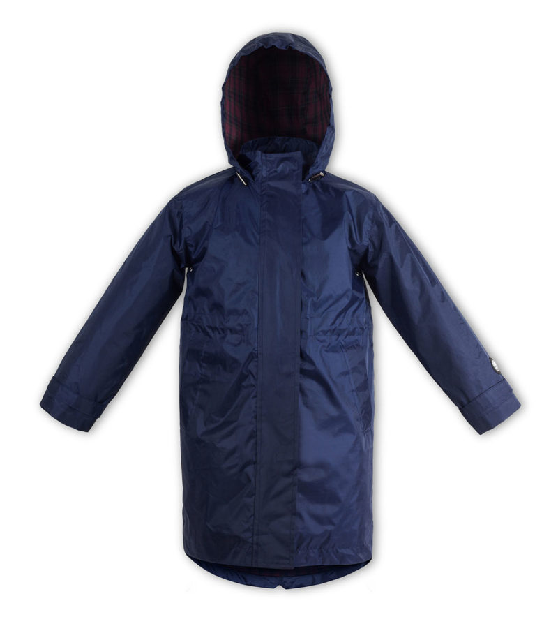 Navy kids raincoat