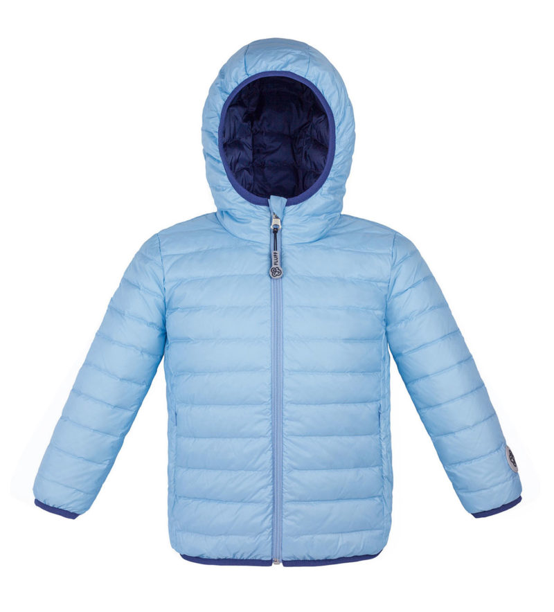 Sky blue and Navy ultralight down jacket