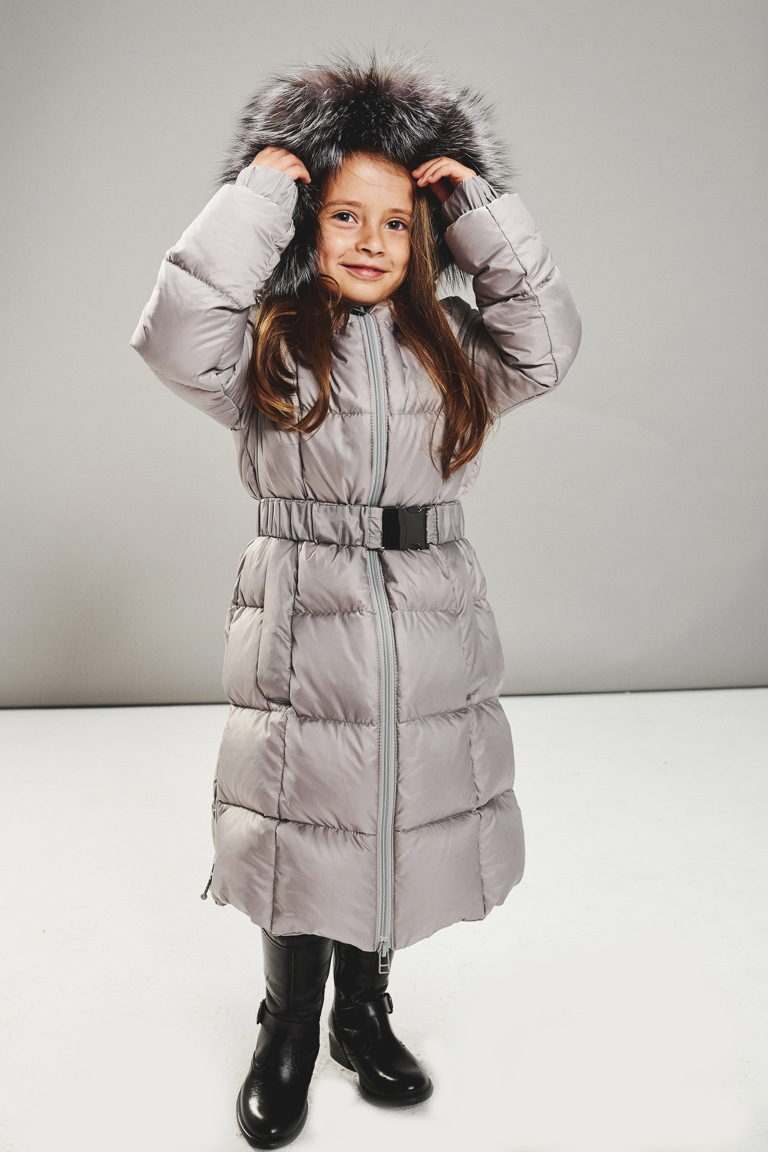 Light grey princess coat