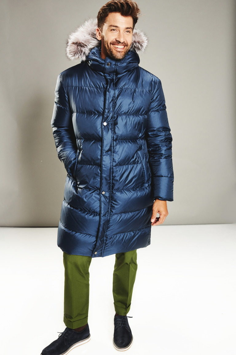 Navy Blue Man Coat