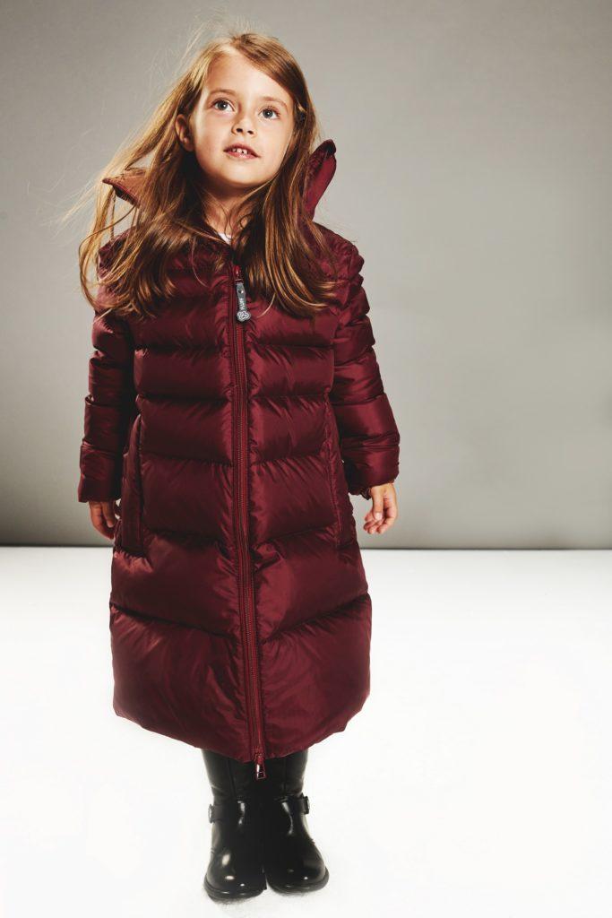Girl Burgundy coat