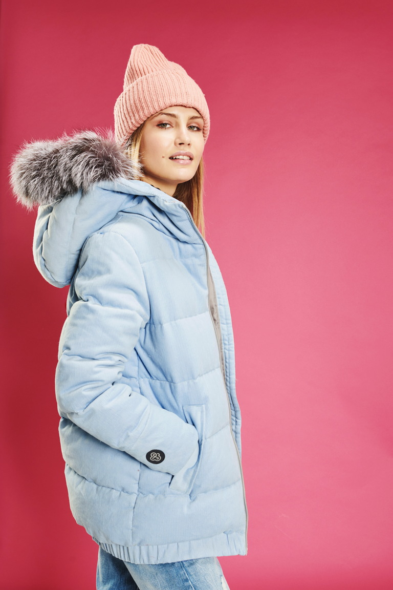 Corduroy women jacket in Mint