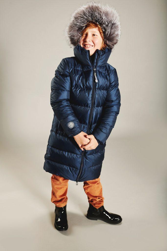 Boy navy coat