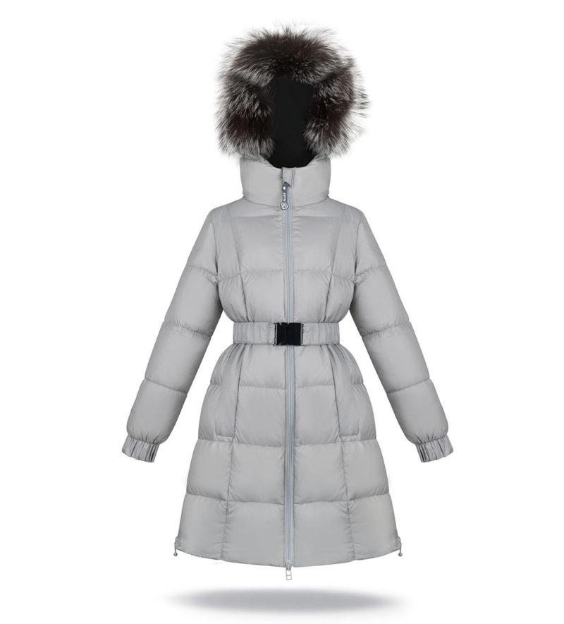 Light grey princess coat