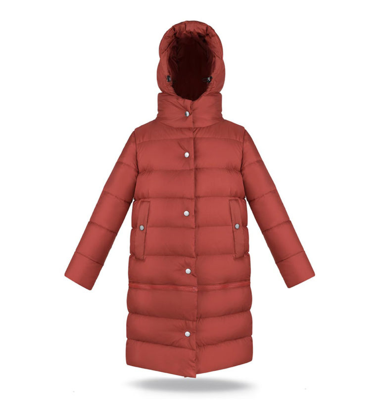 Two lengths women coat in Ginger Amber