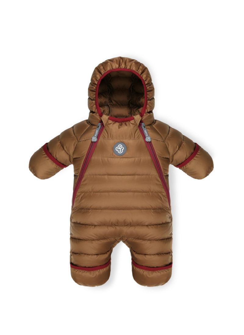 Chocolate Brown baby snowsuit