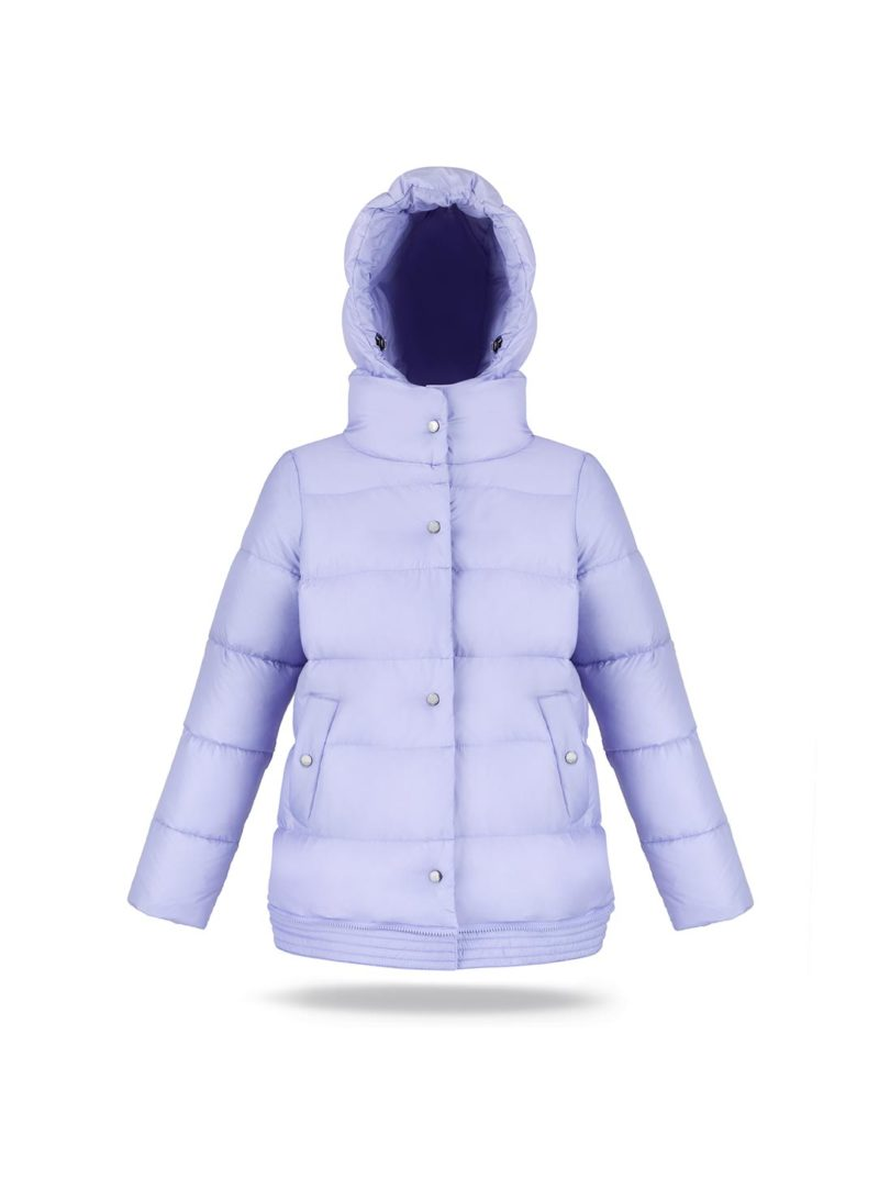 Two lengths women coat in Lillac