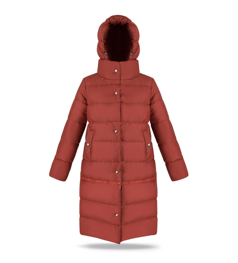 Two lengths women coat in Ginger Amber