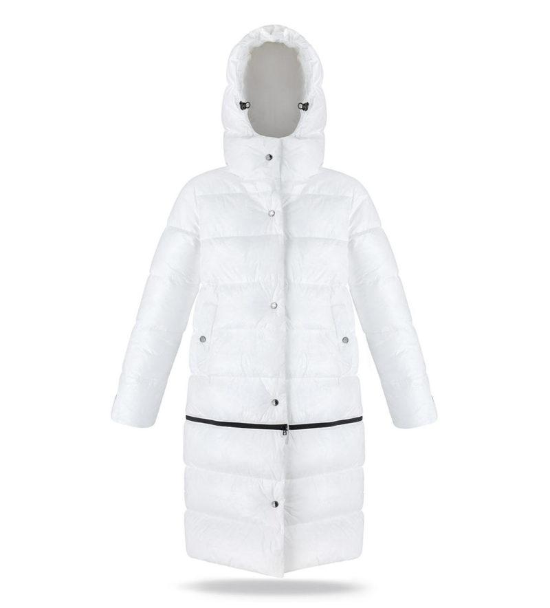 Two lenght women coat ECO white