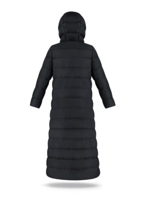 Long women coat in Black Coffee