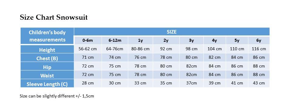Size Chart Snowsuit_UE