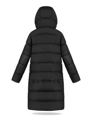 Two lengths women coat in Black Coffee