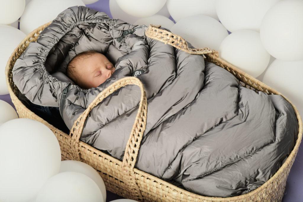 Grey sleeping bag