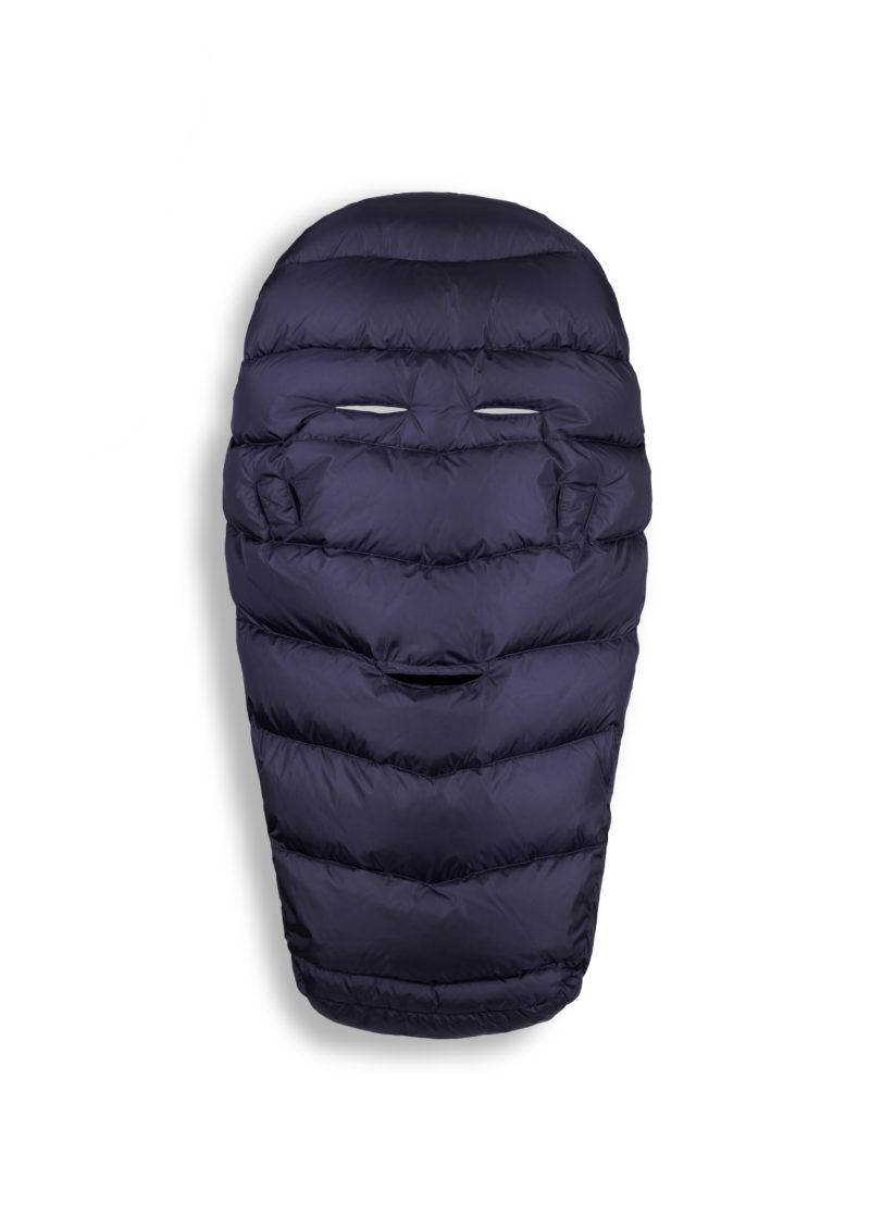 Navy blue sleeping bag