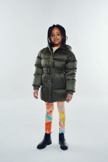 military kid dark green