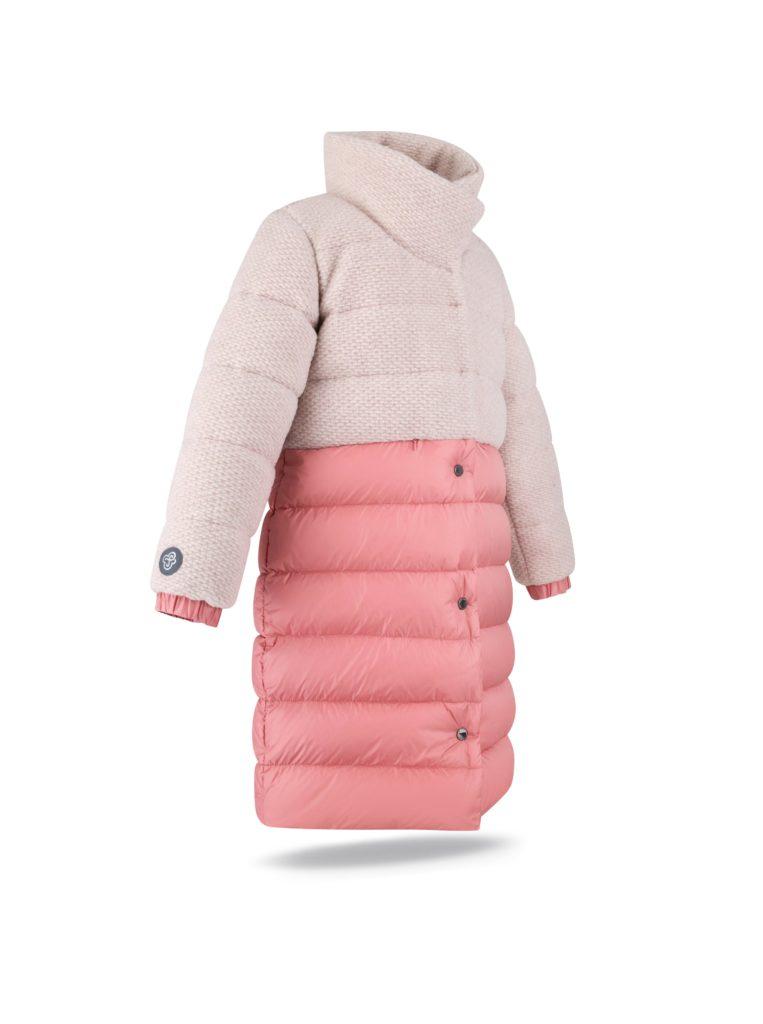 Wool coat in Nude