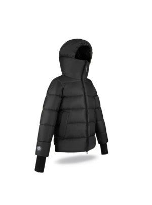 High chin guard Black Coffee jacket