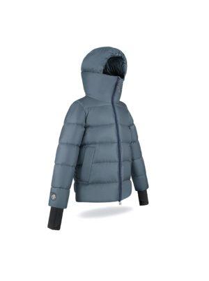 High chin guard Grey Stone jacket