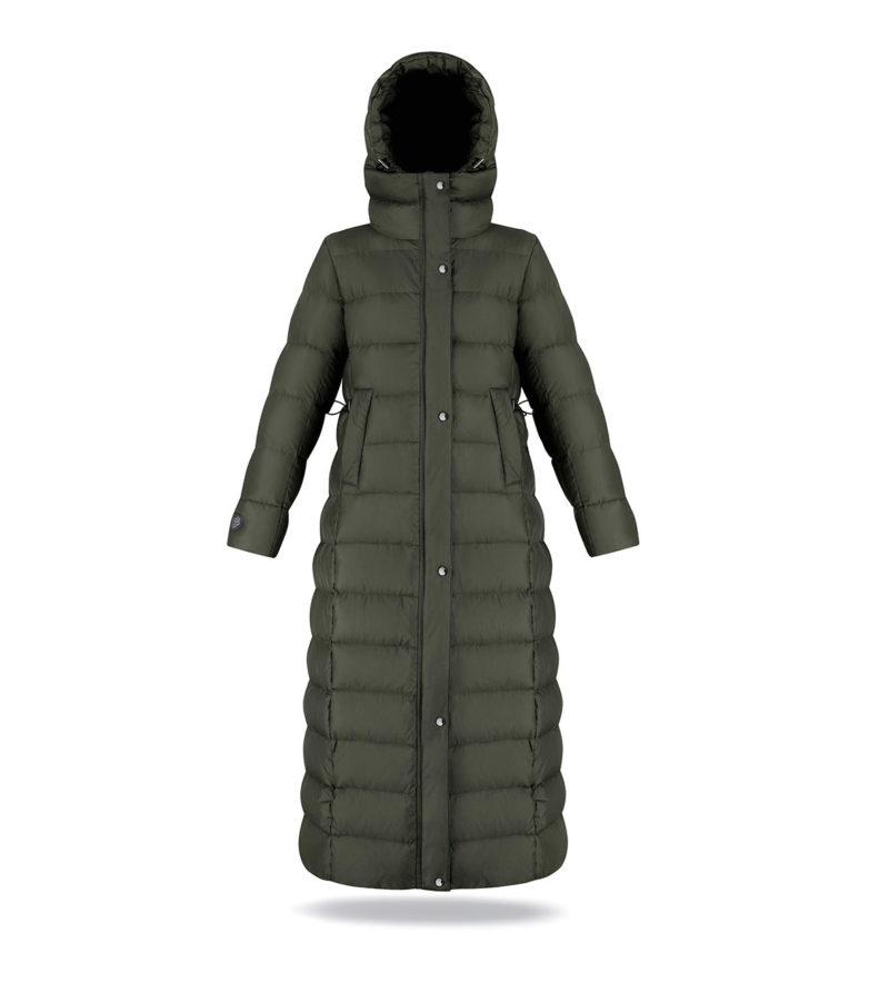 Long coat dark green