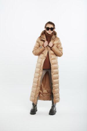 long women coat caramel