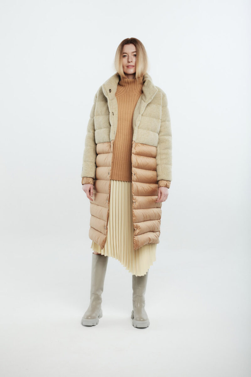 wool women coat caramel