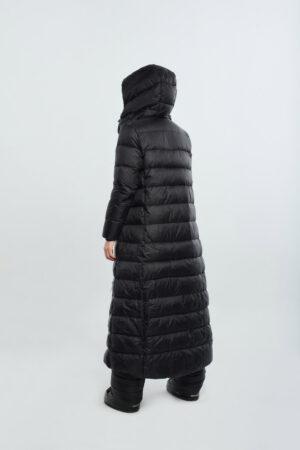 long women coat black
