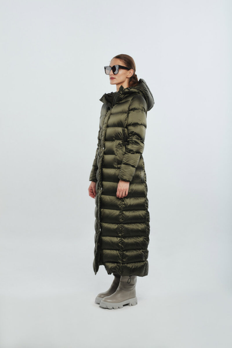 Long women dark green