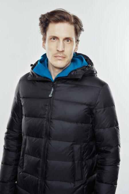 basic jacket man black