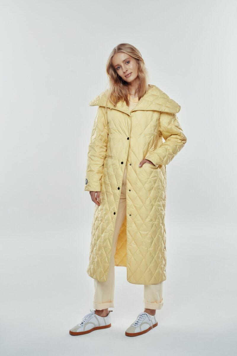banana yellow coat