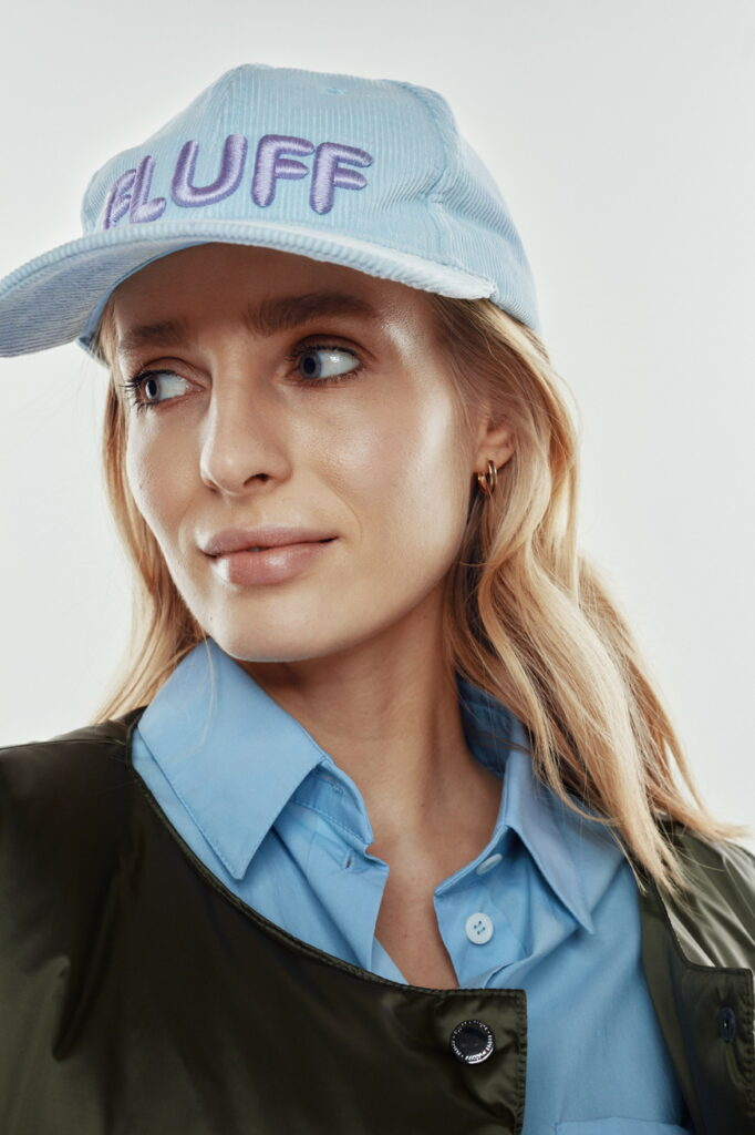 baby blue adult hat