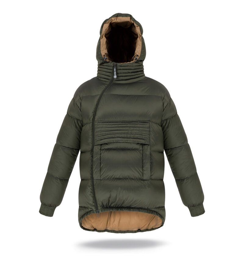 man hoodie jacket dark green