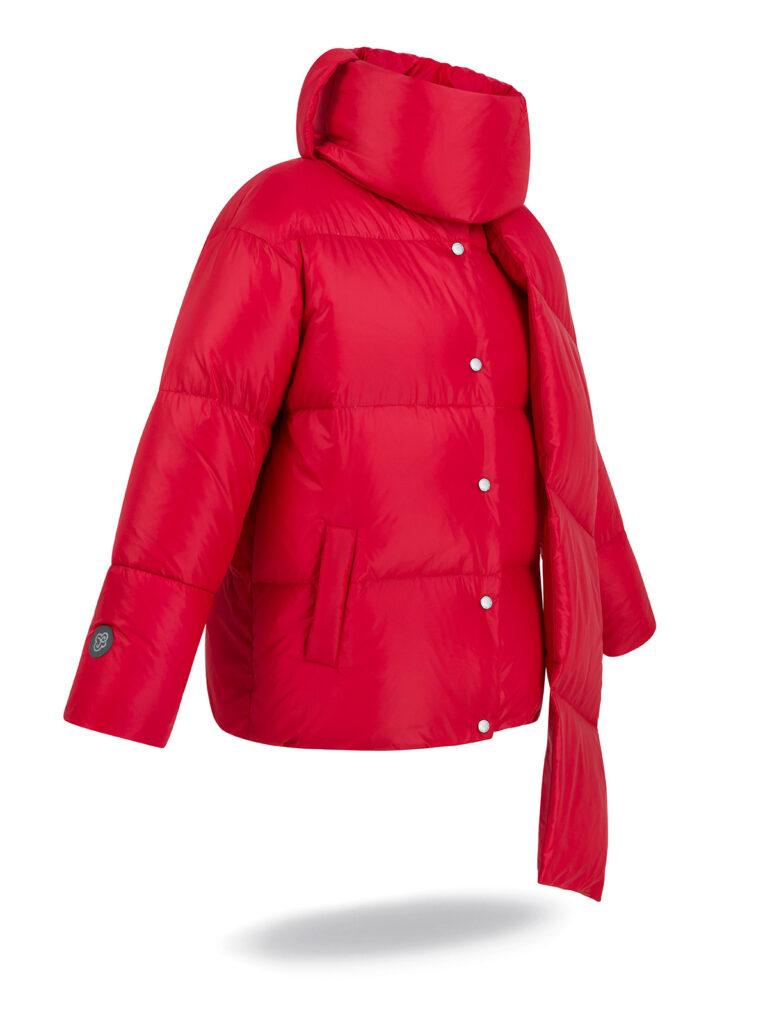 collar jacket red